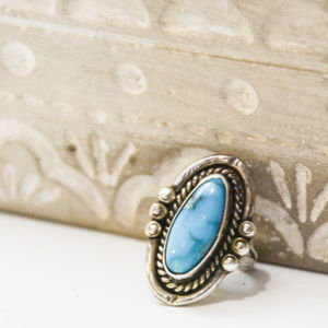 Vintage Sterling Silver Tourquoise Ring